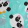 Touca Elástica Profissional Panda - Verde com Aba Preta