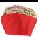 Touca Elástica Profissional Sorvete - Colorido com Aba Vermelha